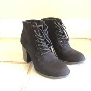 Forever 21 Black Suede Booties Size 7
